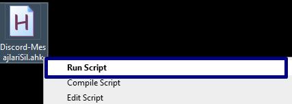 AutoHotkey script çalıştırma