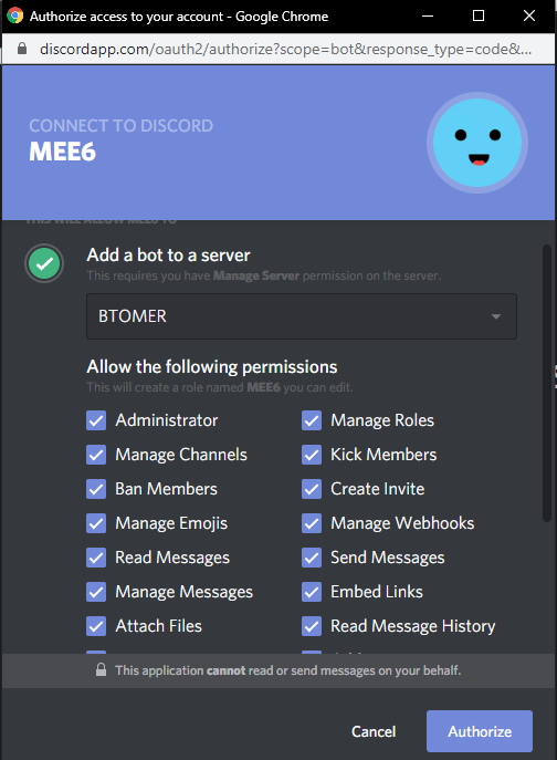 add to discord for mee6